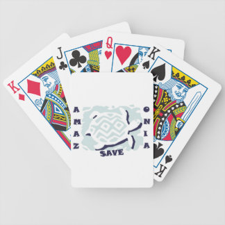Save Amazonia Bicycle Playing Cards