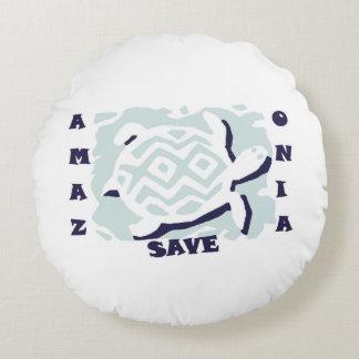 Save Amazonia Round Pillow