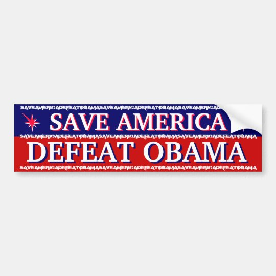 SAVE AMERICA - DEFEAT OBAMA BUMPER STICKER