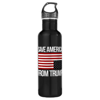 Save America From Trump -- white - 710 Ml Water Bottle