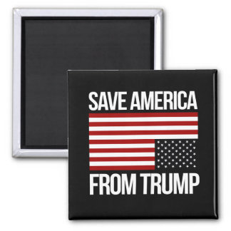 Save America From Trump -- white - Magnet