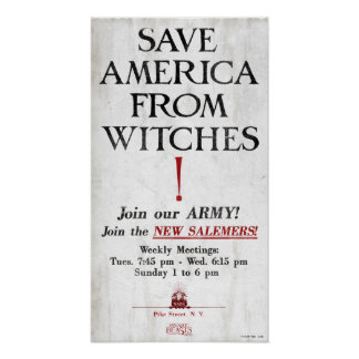 Save America From Witches Poster