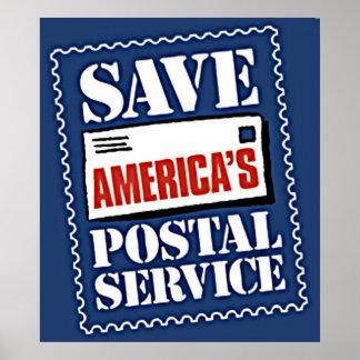 Save America's Postal Service Poster