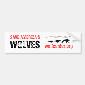 Save America's Wolves Bumper Sticker