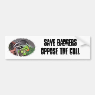 Save BADGERS, oppose the Cull, bumper car stickers