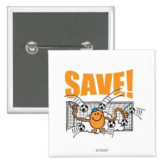 Save! 2 Inch Square Button