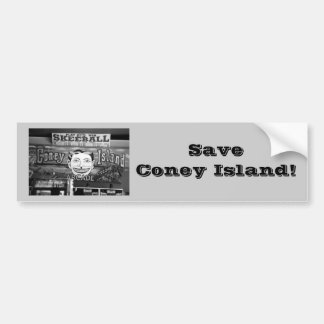 Save Coney Island! Bumper Sticker (grey)