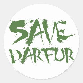 Save Darfur 3 Round Sticker