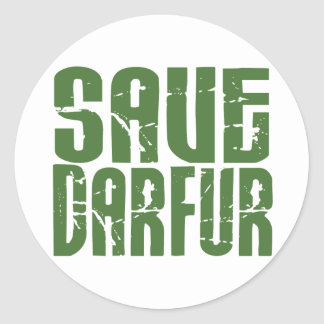 Save Darfur 4 Round Sticker