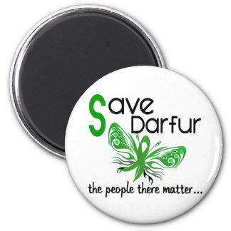 Save Darfur Butterfly 3.2 2 Inch Round Magnet