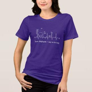 Save Elephants T-shirt - Heartbeat Say No to Ivory