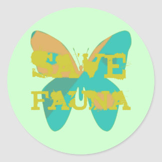 Save Fauna Classic Round Sticker