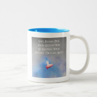 Save Flying Pigs Two-Tone Coffee Mug