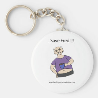 Save Fred Basic Round Button Keychain