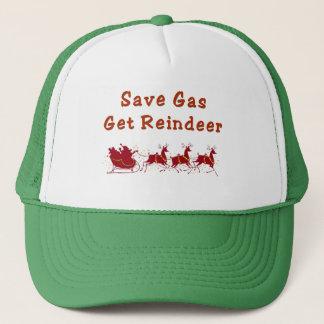 save gas  get reindeer hat