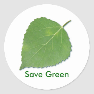 Save Green Reminder Sticker