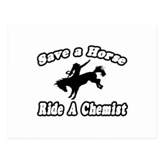 Save Horse, Ride Chemist Postcard