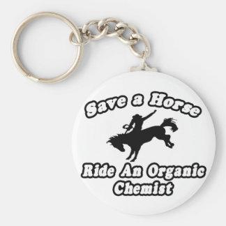 Save Horse, Ride Organic Chemist Keychain