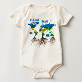 SAVE IT Earth Tree ORGANIC Baby Benefit Baby Bodysuits