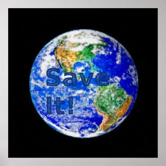 Save It! - Environmental Awareness Poster