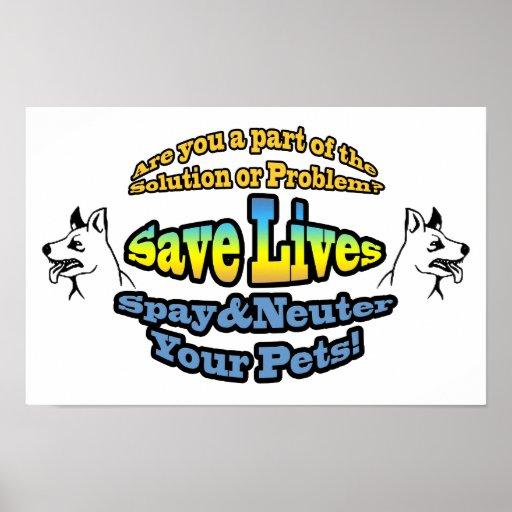 Save Lives Spay & Neuter Your Pets! Print
