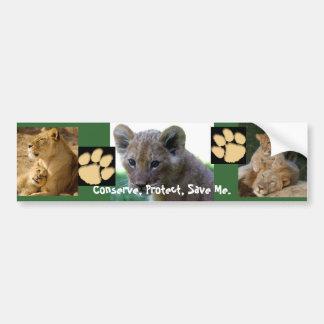 Save Me - Lion Cub Bumper Sticker