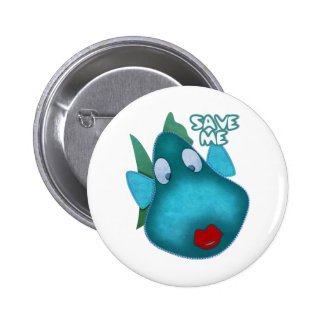 Save me SAVE THE WHALES 2 Inch Round Button