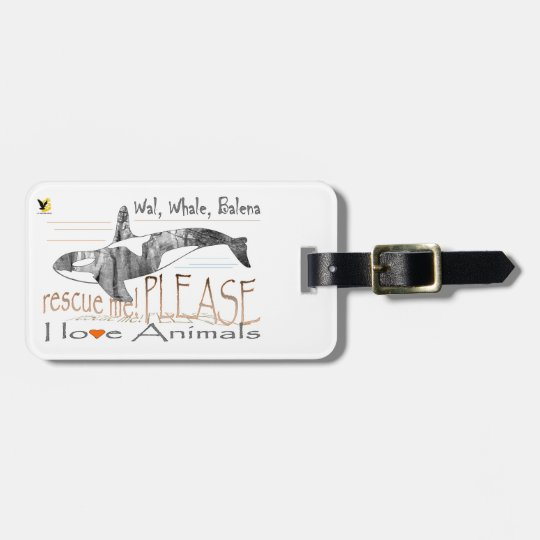 Save me the whale bag tag