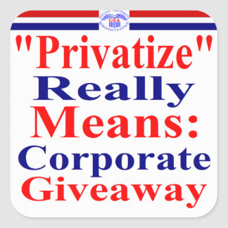 Save Medicare From Corporate Greed Square Sticker