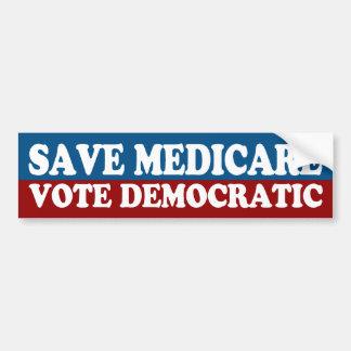 Save Medicare, Vote Democratic Bumper Sticker