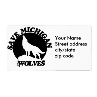 Save Michigan Wolves Shipping Label