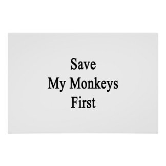Save My Monkeys First Posters