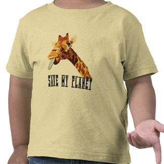 Save My Planet Giraffe Tshirt