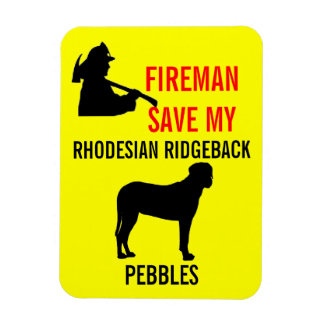 Save My Rhodesian Ridgeback Dog Fire Safety Magnet