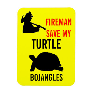 Save My Turtle Fire Safety Rectangular Photo Magnet