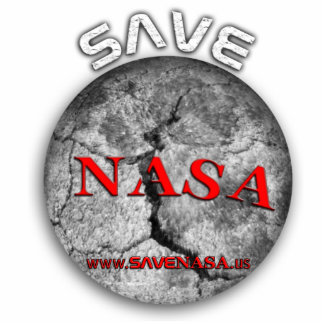 Save NASA! Sculpture Standing Photo Sculpture