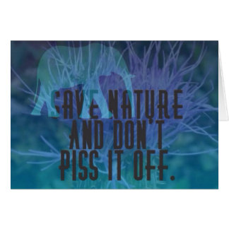 Save Nature Card