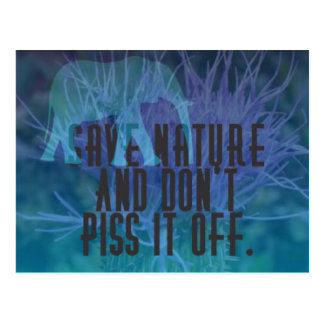 Save Nature Postcard
