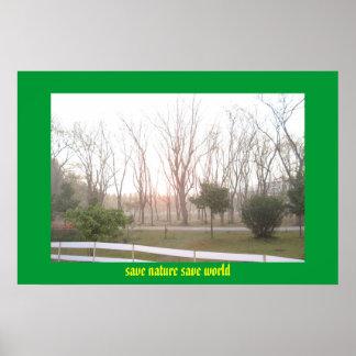 save nature save world poster