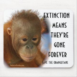 Save Orangutans No Monkey Business Mouse Pad