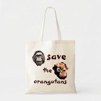 Save Orangutans Wildlife Charity Budget Tote Bag