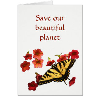 Save Our Beautiful Planet Earth Day Card
