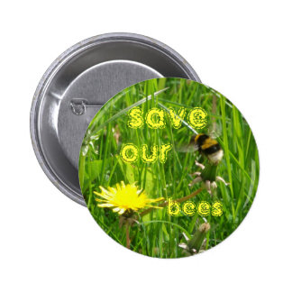 save our bees 2 inch round button