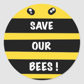 Save our bees sticker protect our environment