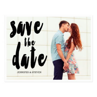 SAVE OUR DATE | BOLD SAVE THE DATE ANNOUNCEMENT POSTCARD
