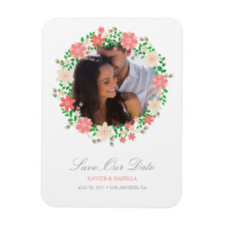 Save Our Date | Floral Wreath Magnet