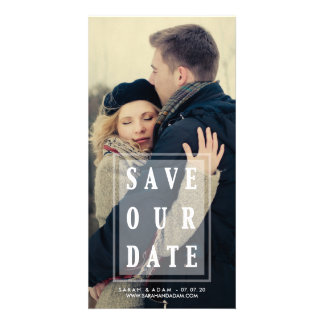 Save Our Date Overlay   Save the Date Photo Card