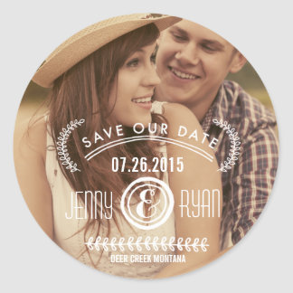 Browse the Save the Date Sticker Collection and personalize by color, design, or style.