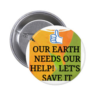 SAVE OUR EARTH Round Button