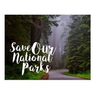Save Our National Parks Postcard